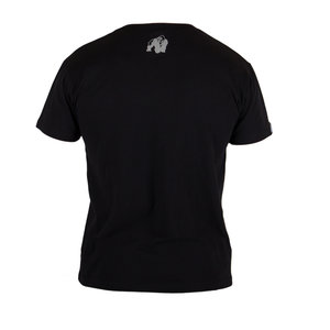 Sacramento V-Neck Tee, black/red