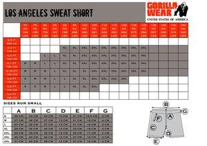 Los Angeles Sweat Shorts, black