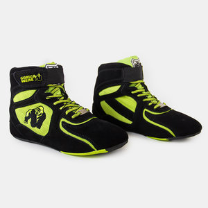 Chicago High Tops, black/neon lime