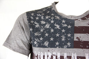 USA Flag Tee, grey