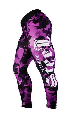"MADE OF STEEL ""STREET CAMO TIGHTS"" PINK"
