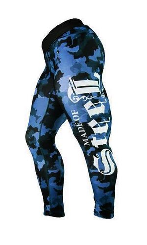 "MADE OF STEEL ""STREET CAMO TIGHTS""BLUE"