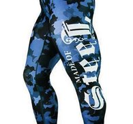 """MADE OF STEEL """"STREET CAMO TIGHTS""""BLUE"""