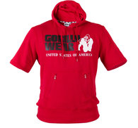 Boston Short Sleeve Hoodie, red