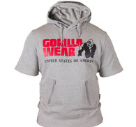 Boston Short Sleeve Hoodie, grey