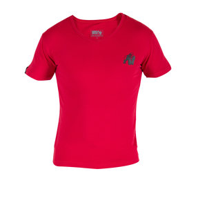 Essential V-Neck Tee, red