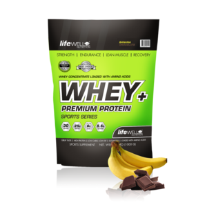 LifeWell Nutrition Whey+ 1000g Banana/Chocolate