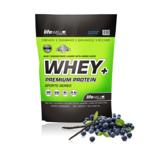 LifeWell Nutrition Whey+ 1000g Blueberry Smoothie