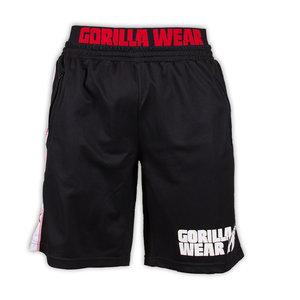 California Mesh Shorts, black/red