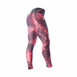 Pixel Tights  Black/Raspberry