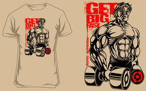 T-shirt Get Big Fast 2