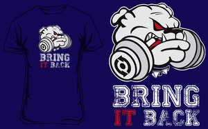 T-shirt Puppy Navy