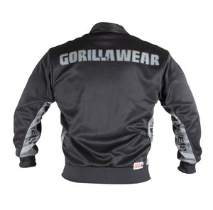 Track Jacket, black/grey