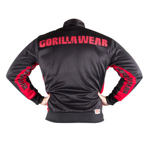 Track Jacket, black/red
