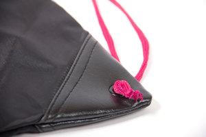 GW Drawstring Bag, black/pink