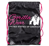 GW Drawstring Bag, black/pink