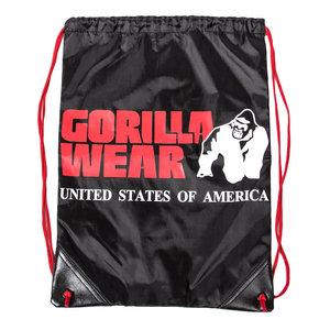 GW Drawstring Bag, black/red