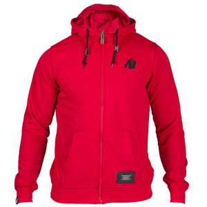 Classic Zipped Hoodie, red