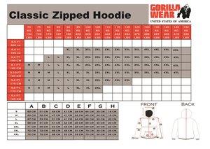 Classic Zipped Hoodie, grey