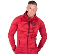 Bridgeport Zipped Hoodie, red