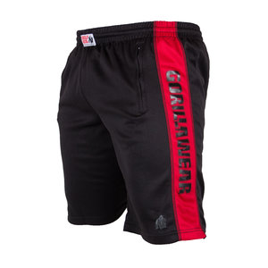 Track Shorts, black/red