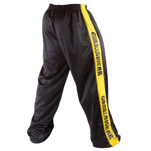 Track Pants, black/yellow