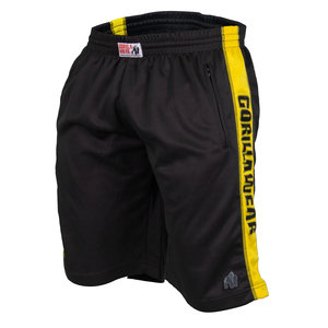 Track Shorts, black/yellow