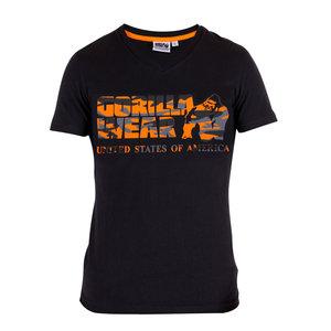 Sacramento V-Neck Tee, black/orange
